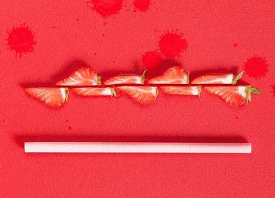 Delicatessen - Strawberry flavour edible, compostable and biodegradable straws - SWITCH EAT