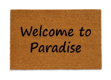 """Rugs - """"WELCOME TO PARADISE"""" DOORMAT 40X60 CM AX71033 - ANDREA HOUSE"""