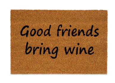 "Rugs - ""GOOD FRIENDS BRING WINE"" DOORMAT 40X60 CM AX71034 - ANDREA HOUSE"