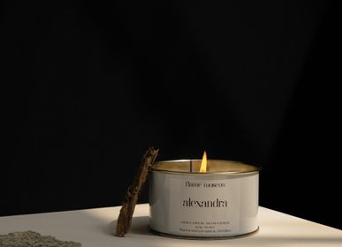 Other office supplies - White Metal signature candle - 350 gr - wide array of scents - FLAME MOSCOW