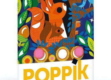 Poster - Panorama + 520 stickers Bébé Animaux  - POPPIK