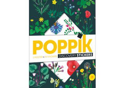 Poster - Poster éducatif + 72 stickers LA BOTANIQUE - POPPIK