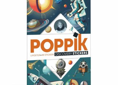 Poster - Poster éducatif + 40 stickers ASTRONOMIE - POPPIK