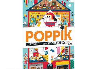 Poster - Poster éducatif + 100 stickers LA MAISON DE GRAOU  - POPPIK