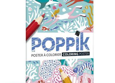 Poster - Arty Coloring - La barrière de corail - POPPIK