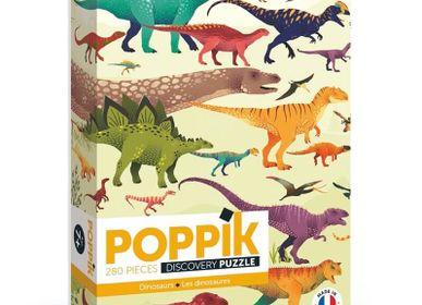 Affiches - Puzzle 280 pièces - DINOSAURES  - POPPIK