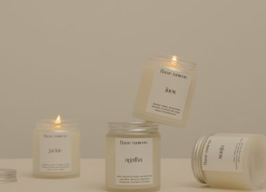 Stationery - Matte Candle - glass jar travel scented coconut wax candle 110gr - FLAME MOSCOW