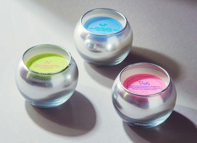 Gifts - Silver mercury handblown Gelati mini candle 150 gr - FLAME MOSCOW