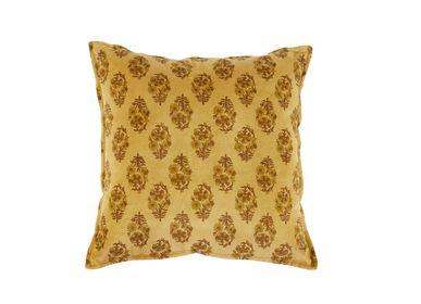 Fabric cushions - SUNFLOWER VELVET CUSHION 45X45 CM AX71002 - ANDREA HOUSE