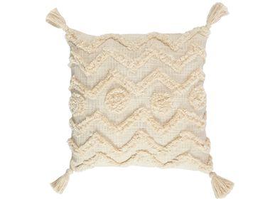 Cushions - Aqua cotton cushion 45x45 cm AX71180 - ANDREA HOUSE