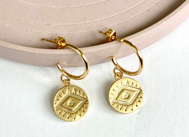 Jewelry - Gold earrings with fine gold. - NAO JEWELS