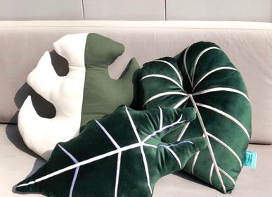 Fabric cushions - Handmade Leaf Pillows - TROPICAL COLLECTION