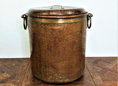 Objets de décoration - Chaudron en cuivre avec couvercle. - JD PRODUCTION - JD CO MARINE