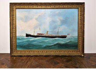 Decorative objects - Huile sur toile. Portrait du Annam par Edouard Adam. - JD PRODUCTION - JD CO MARINE