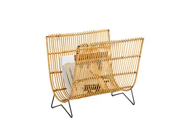 Decorative objects - BAMBOO AND RATTAN MAGAZINE RACK 38X29X35 CM AX71039 - ANDREA HOUSE