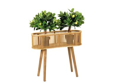 Flower pots - AX71040 Bamboo and Rattan Planter 68x22x59.5 cm  - ANDREA HOUSE