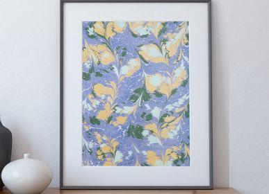 Paintings - Ebru Art Print - Cassiopeia - L'ATELIER DES CREATEURS