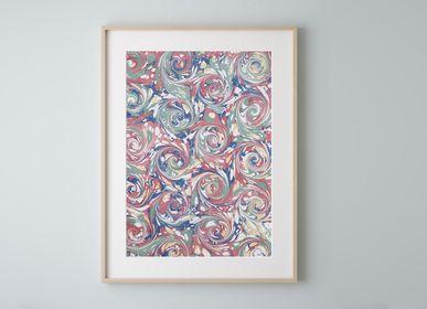 Paintings - Ebru Art Print - Odyssey - L'ATELIER DES CREATEURS