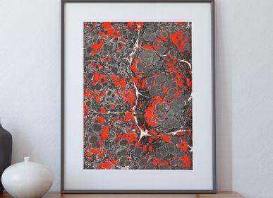 Paintings - Art print Ebru - Magma - L'ATELIER DES CREATEURS