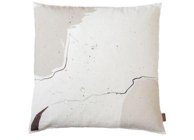 Couettes et oreillers - Housse de coussin en lin imprimé numérique LO, 50 x 50 cm - XERALIVING
