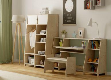 Desks - ASYMMETRY OFFICE DOUBLE SHELF  - MATHY BY BOLS