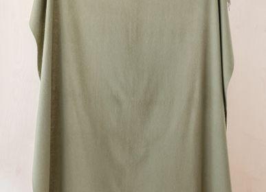 Throw blankets - Lambswool Blanket in Olive - THE TARTAN BLANKET CO.