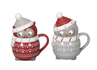 Decorative objects - OWL-SHAPED MUGS - PROFLOR