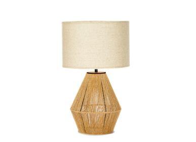 Lampes de bureau - Lampe corde de chanvre Ø30x50 cm IL71048  - ANDREA HOUSE