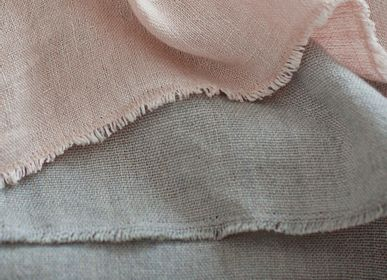 Fabrics - 100% HAND WOVEN LINEN FABRICS - STUDIO NATURAL