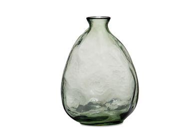 Vases - ORGANIC GREEN GLASS VASE Ø19,5X26 CR71104 - ANDREA HOUSE