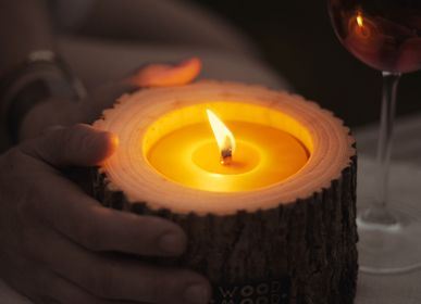 Gifts - PATIO ROCKY | Large Wooden Candle with beeswax - WOOD MOOD