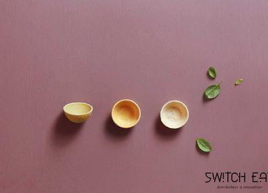Delicatessen - Coupelles rondes comestibles, compostables et biodégradables version légumes  - SWITCH EAT