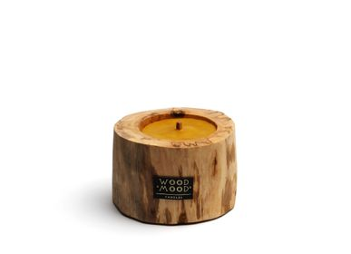 Decorative objects - PATIO UBUD | Large Wooden Candle with beeswax - WOOD MOOD