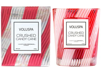 Bougies - Crushed Candy Cane Classic Candle - VOLUSPA