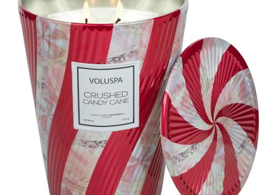 Bougies - Crushed Candy Cane 2 Wick Table Tin Candle - VOLUSPA