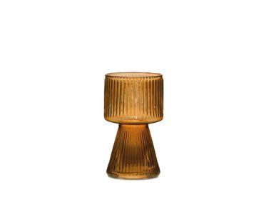Vases - Sami amber glass vase Ø12x20 cm CR71113  - ANDREA HOUSE