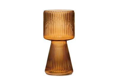 Vases - Sami amber glass vase Ø15x30 cm CR71114  - ANDREA HOUSE
