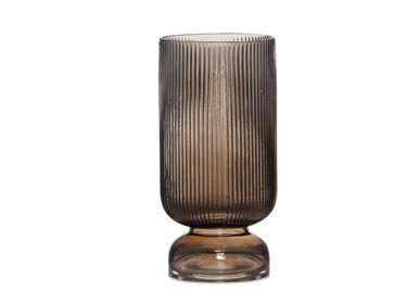 Vases - Koa brown glass vase Ø15x30 cm CR71116 - ANDREA HOUSE
