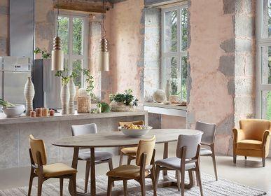 Tables Salle à Manger - Table MAXINE naturel - BLANC D'IVOIRE