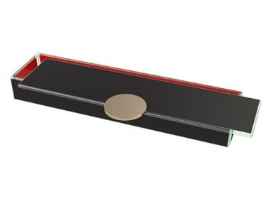 Coffrets et boîtes - Boîte à bento longue rectangulaire, noir et rouge - MYGLASSSTUDIO