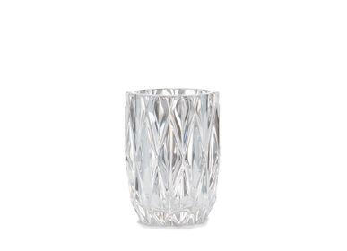 Accessoires à poser - losange. Porte-brosse à dents en verre et or Ø8,5x11 cm BA71073 - ANDREA HOUSE