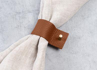 Linge de table textile - Lot de 4 anneaux de serviette - NAMUOS
