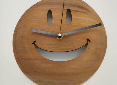 Horloges - Grande Horloge ronde  (Diam 25cm) en feuilles de Palmier - ARECABIO