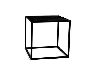 Tables basses - Table d'appoint en marbre blanc et métal 41.5x41.5x40 cm MU71010 - ANDREA HOUSE