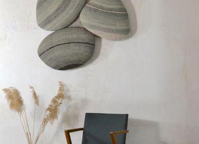 Decorative objects - Handmade Wool Felt Wall Pebbles - GHISLAINE GARCIN MAILLE&FEUTRE
