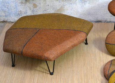 Upholstery fabrics - Handmade Wool Felt Vegetable Dye Low Seat - GHISLAINE GARCIN MAILLE&FEUTRE