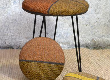 Upholstery fabrics - Handmade Wool Felt Vegetable Dye Stool - GHISLAINE GARCIN MAILLE&FEUTRE
