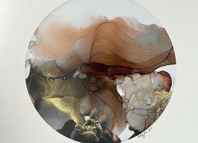 Tableaux - Peinture à l'alcool sur papier 30x30cm  - ARTYPIC