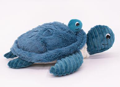 Soft toy - TURTLE & BABY BLUE - LES PTIPOTOS - LES DEGLINGOS