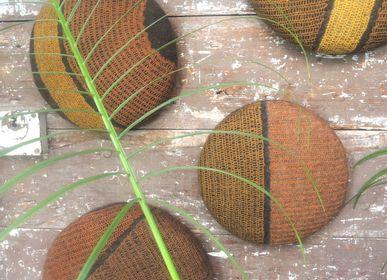 Paintings - Handmade Wool Felt Plant Dyeing Wall piece - GHISLAINE GARCIN MAILLE&FEUTRE